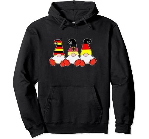 3 German Gnomes Germany Flag Cute Deutsche Deutschland Pullover Hoodie