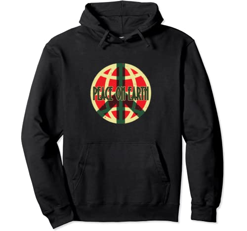 Peace On Earth Holiday Graphic Pullover Hoodie