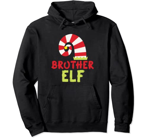 Brother Elf Matching Family Group Christmas Party Outfits Pullover Hoodie