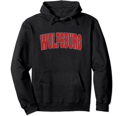 Wolfsburg Germany Varsity Style Vintage Retro German Sports Pullover Hoodie