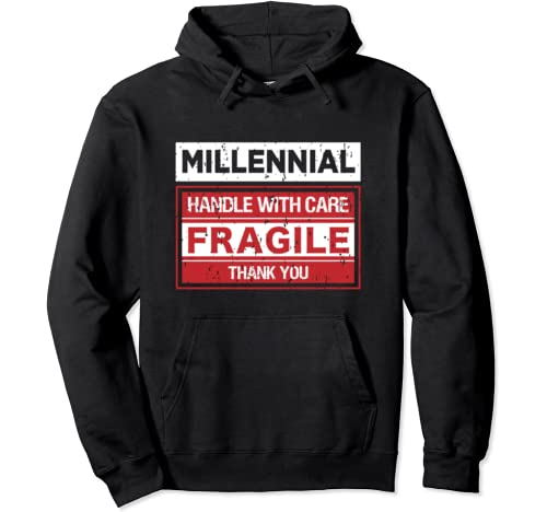 Millennial Fragile Funny Millenial Costume Gift I'm Offended Pullover Hoodie