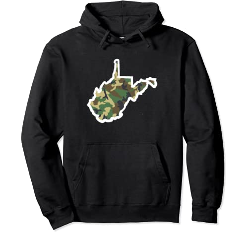 West Virginia Home Shirt, Hunting Gear, Camo Map Apparel Pullover Hoodie
