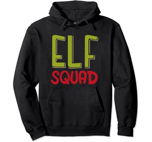 Elf Squad Christmas Funny Family Group Matching Xmas Gifts Pullover Hoodie