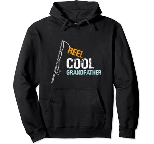 Gift From Granddaughter Grandson Reel Cool Grandfather Pullover Hoodie