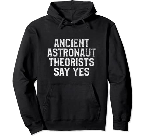 Ancient Astronaut Theorists Say Yes T Shirt Funny Alien Pullover Hoodie