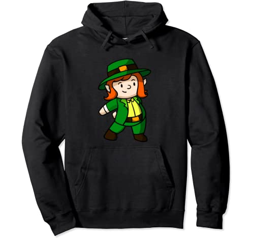 Funny Flossing Leprechaun Girl | St. Patrick's Day Tee Pullover Hoodie
