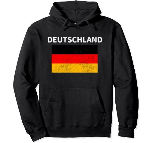 Retro Vintage Distressed Deutschland Germany German Flag  Pullover Hoodie