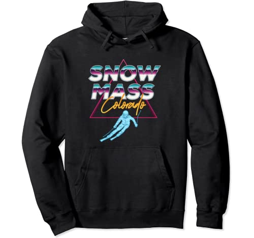 Snowmass, Colorado   Usa Ski Resort 1980s Retro  Pullover Hoodie