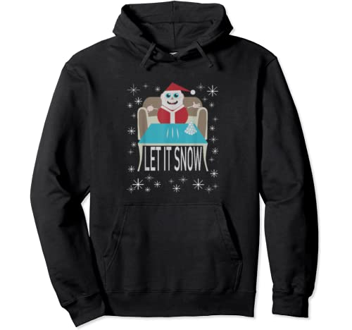 Funny Cocaine Santa Let It Snow Christmas Sweater Costume Pullover Hoodie