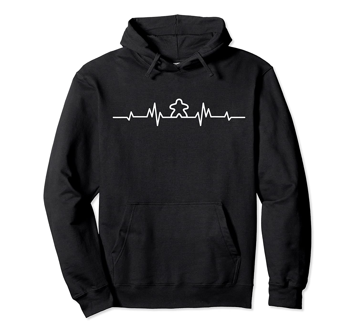 Board Game Heartbeat Meeple Lover Player Figure Gift Shirts Unisex Pullover Hoodie