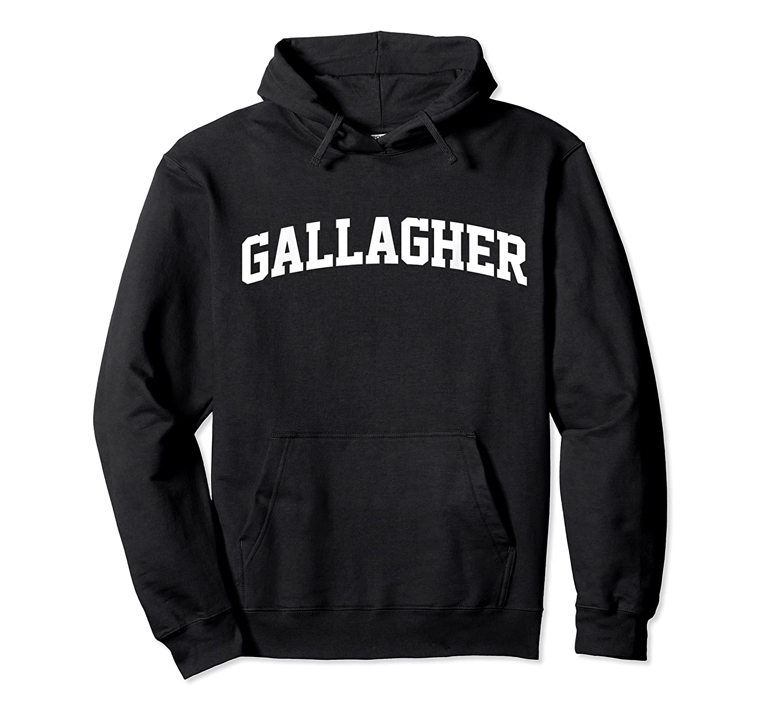Gallagher Name First Last Retro Sports Arch T Shirt Unisex Pullover Hoodie