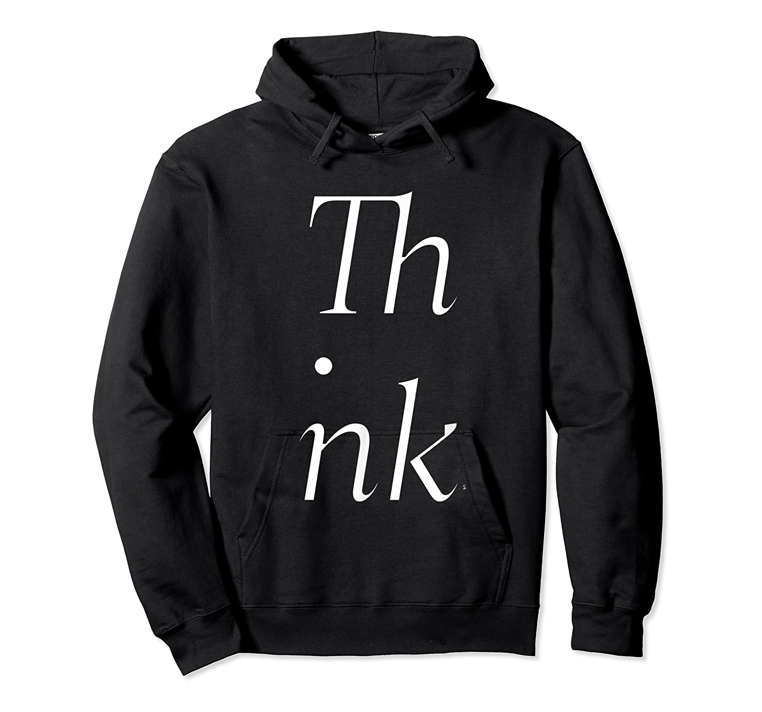 Think Stacked Puzzle Decode Typographic Gift T Shirt Unisex Pullover Hoodie