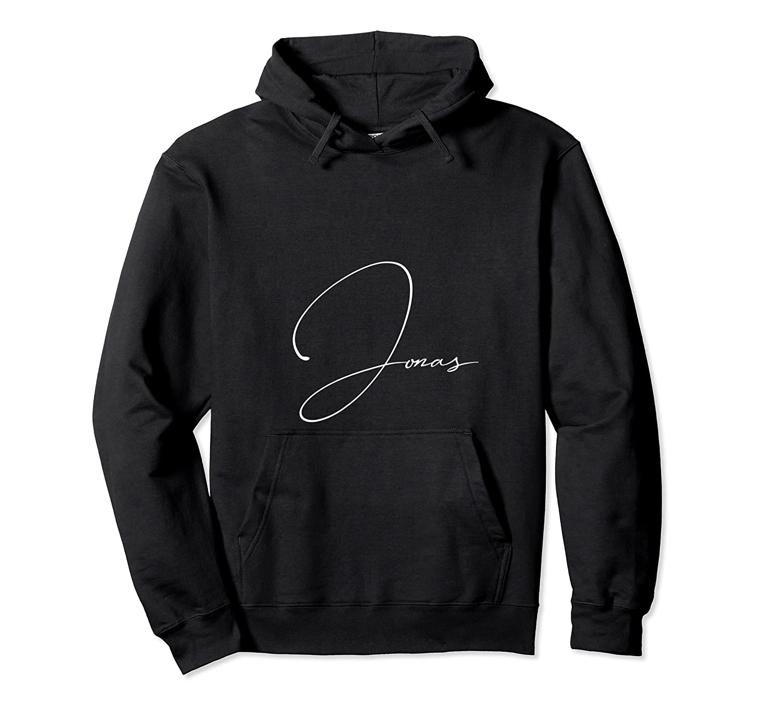 Jonas First Given Name Pride Handwritten Font T Shirt Unisex Pullover Hoodie