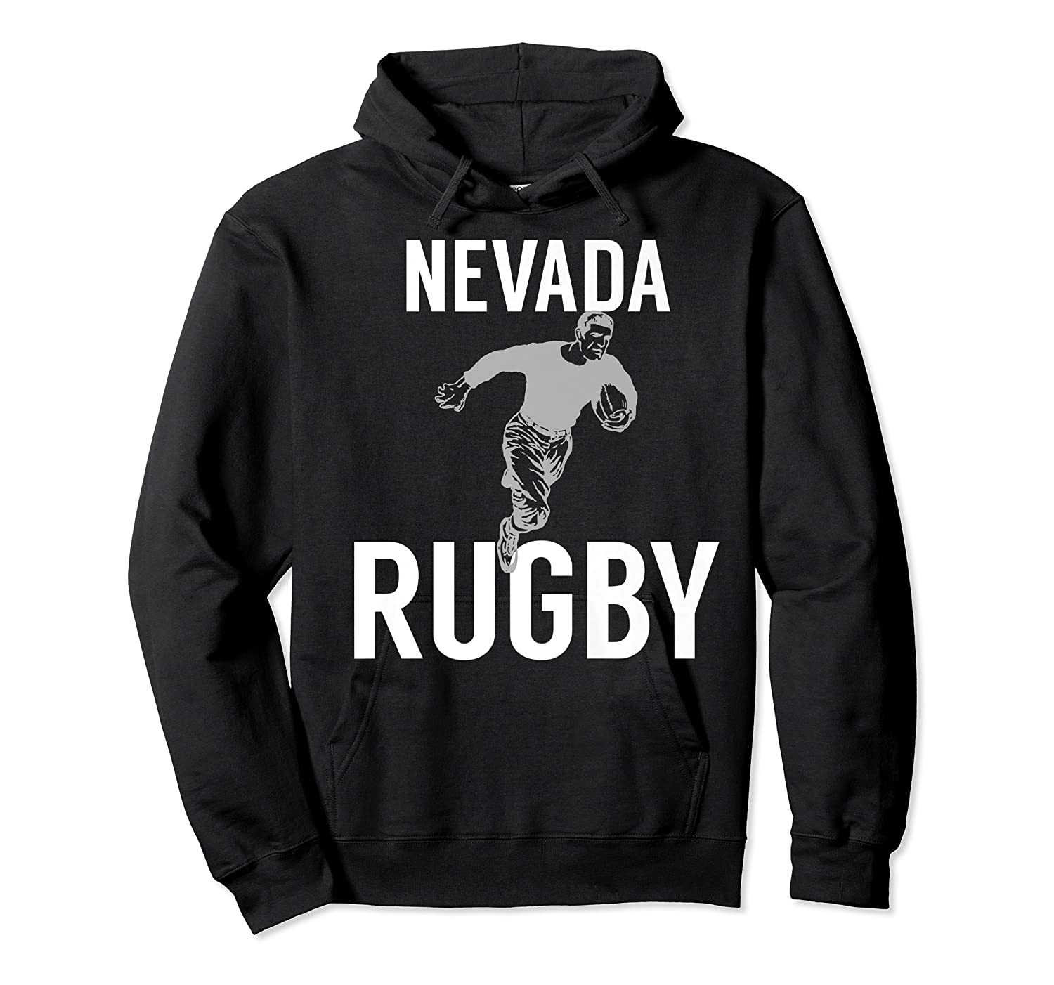 Nevada Rugby Player T-shirt Unisex Pullover Hoodie