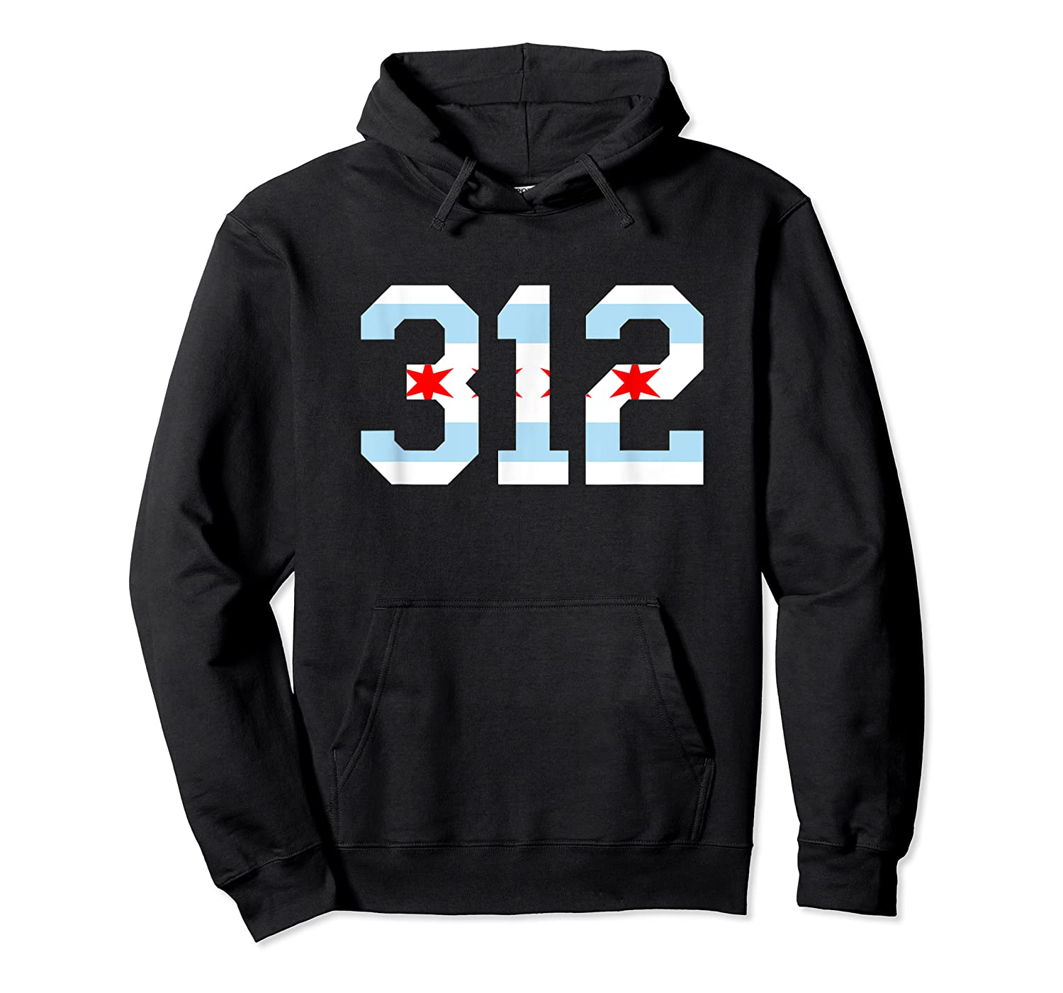 312 Chicago Flag Area Code City Pride T Shirt Unisex Pullover Hoodie