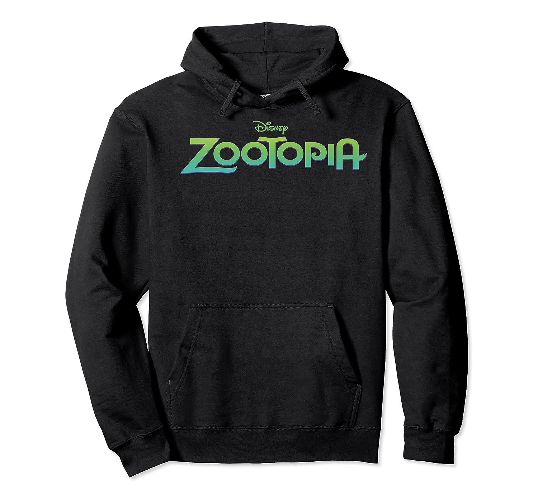 Zootopia Gradient Text Movie Logo Shirts Unisex Pullover Hoodie