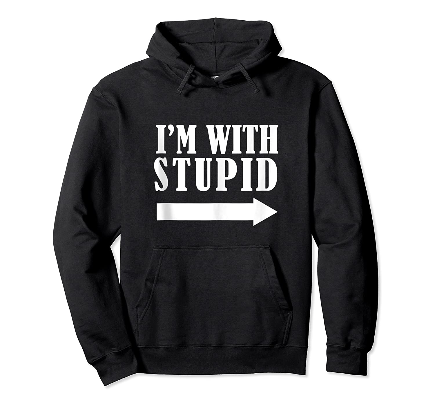 Funny I'm With Stupid Blue Funny Christmas Gift Shirts Unisex Pullover Hoodie