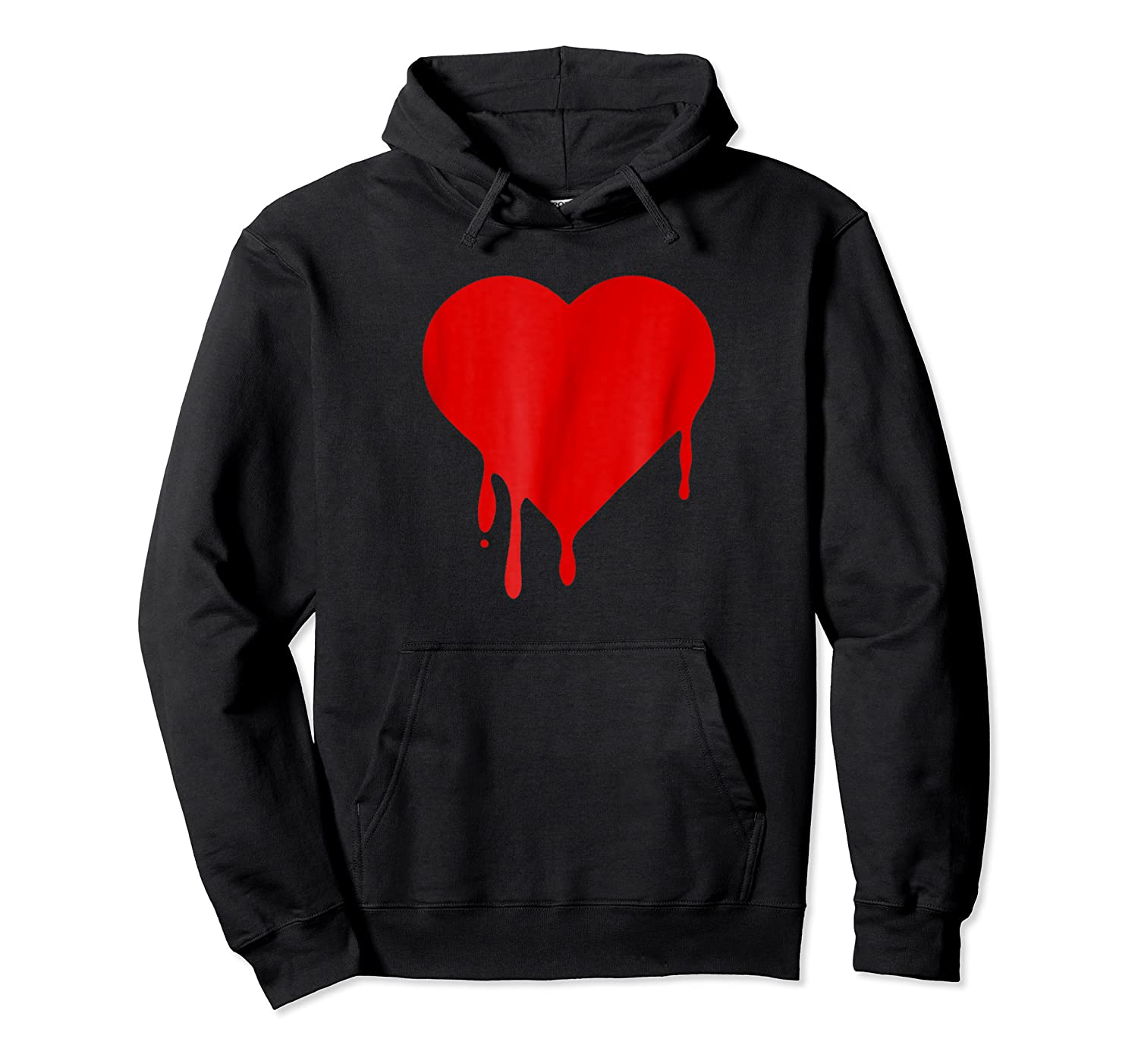 Red Dripping Bleeding Heart T Shirt Anti Valentines Day Tee Unisex Pullover Hoodie