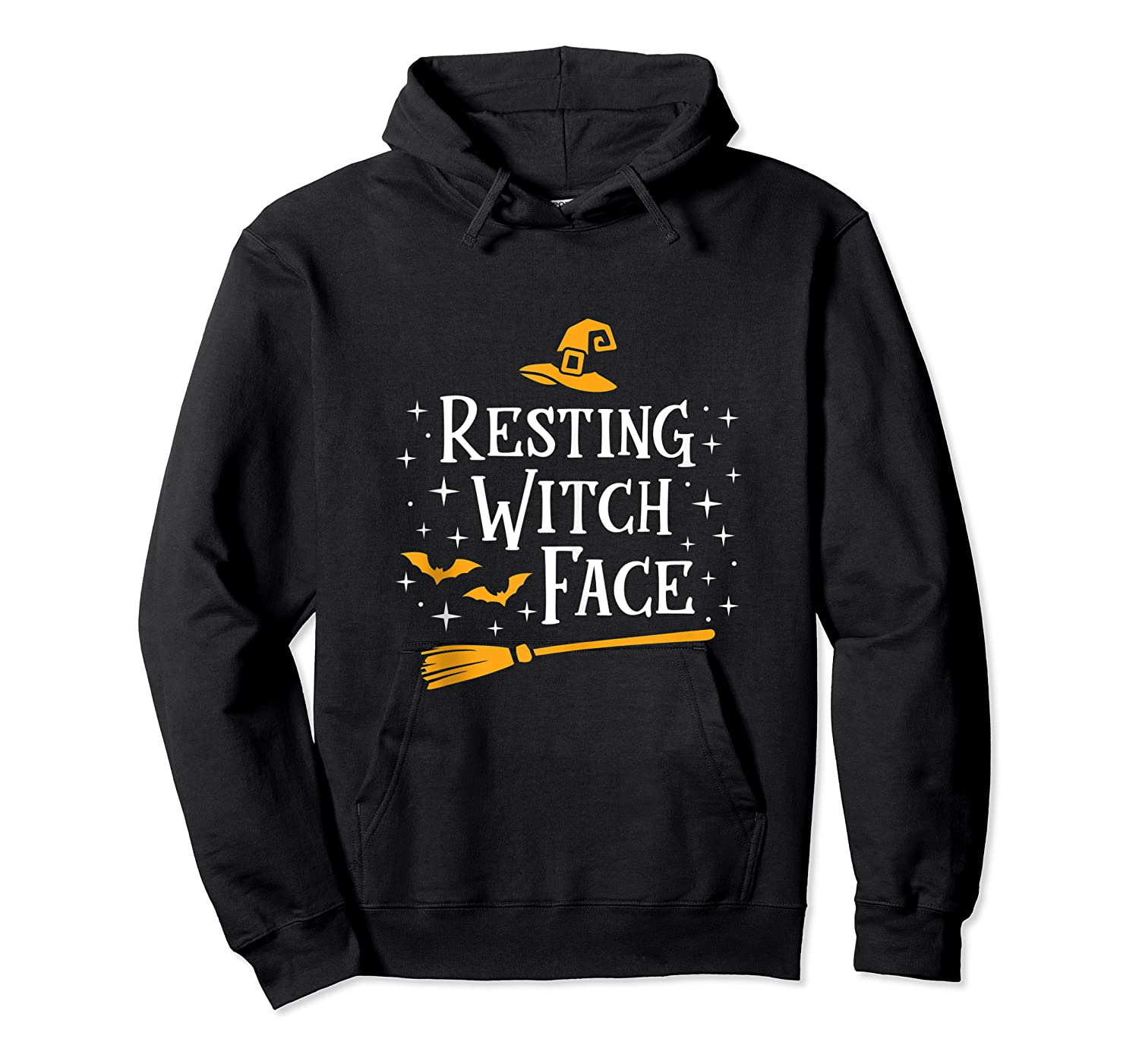 Resting Witch Face Shirt Broomstick Funny Spooky Party Tank Top Unisex Pullover Hoodie