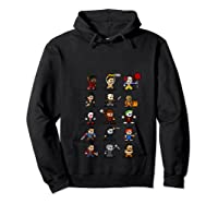 Friends Pixel Halloween Icons Scary Horror Movies T Shirt Hoodie Black