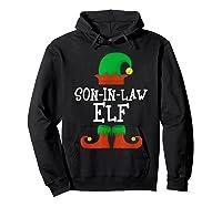 Son-in-law Elf Christmas Funny T-shirt Hoodie Black