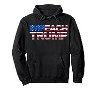 Vintage Impeach Trump American Flag Anti Trump T Shirt Hoodie Black