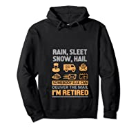 Postal Worker Retiret Gifts Funny Post Office Shirts Hoodie Black