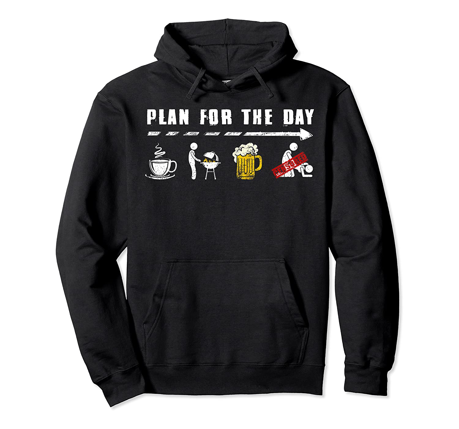 Plan For The Day Coffee Bbq Beer Fuck Funny Gifts Shirts Unisex Pullover Hoodie