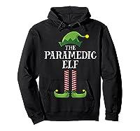 Paramedic Elf Matching Family Group Christmas Party Pajama Shirts Hoodie Black