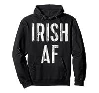 Irish Af T Shirt Vintage Saint Patrick Day Gift Shirt Hoodie Black