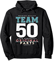 50th Birthday Funny Gift Team Age 50 Years Old T-shirt Hoodie Black