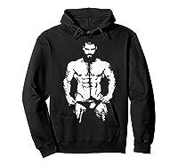 Bearded Hunk T-shirt - Gay Bear Interest Hoodie Black