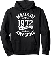 Made In 1972 49 Years Old Bday 49th Birthday Gift T-shirt Hoodie Black