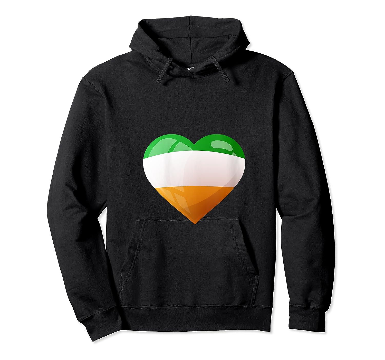 Cute Heart Ireland Flag Celtic Saint Patrick Day T Shirt Unisex Pullover Hoodie