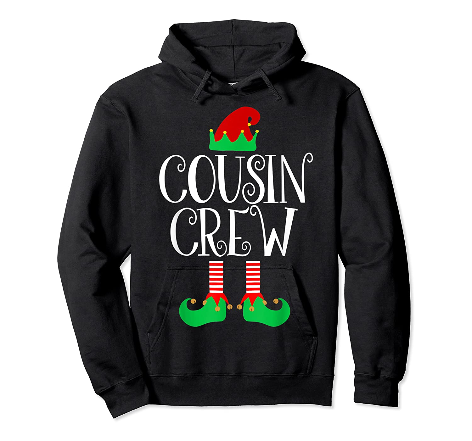Cousin Crew Elf Gift Family Matching Christmas Ugly Shirts Unisex Pullover Hoodie