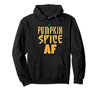Pumpkin Spice Shirt Autumn Tshirt Fall T Shirts Halloween Premium T-shirt Hoodie Black