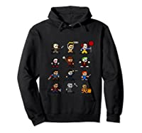 Friends Pixel Halloween Icons Scary Horror Movies Tank Top Shirts Hoodie Black