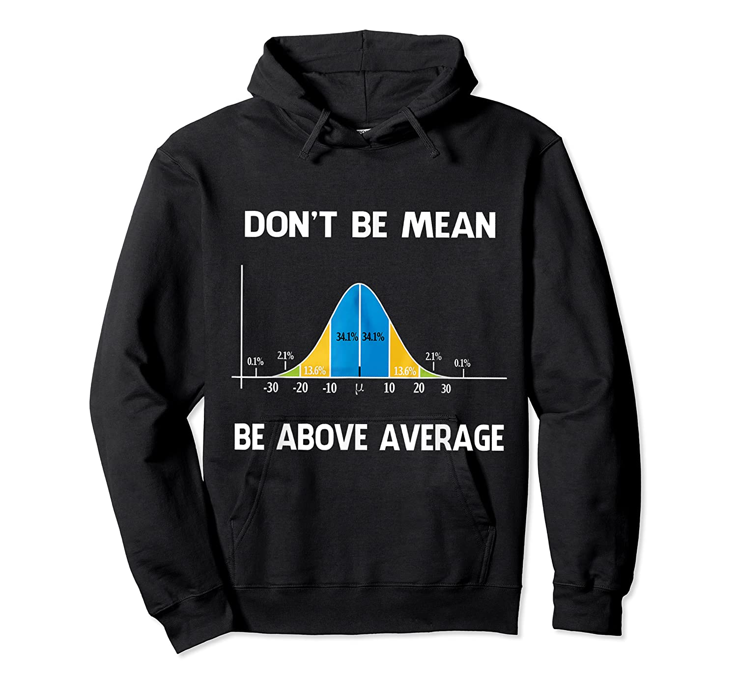 Don T Be Mean Be Above Average Funny Math Lover Gift T Shirt T Shirt Unisex Pullover Hoodie