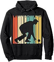 Vintage Style Lawn Bowling Silhouette T-shirt Hoodie Black