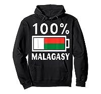 Madagascar Flag T Shirt 100 Malagasy Battery Power Tee Hoodie Black