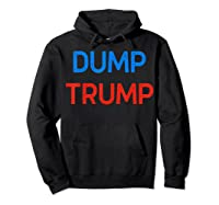 Funny Impeach Trump 45 Anti President Dump Trump Gift T Shirt Hoodie Black