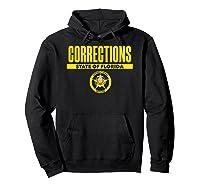 Florida Correctional Officer Thin Gray Line Flag Shirts Hoodie Black