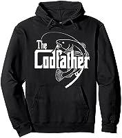 S Codfather Cod Fishing Fisherman Angler Novelty Humor Gifts T-shirt Hoodie Black
