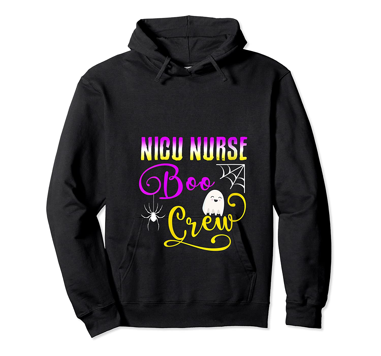 Nicu Nurse Boo Crew Halloween Ghost Spider Rn Group T-shirt Unisex Pullover Hoodie