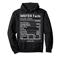 Writer Facts Storyteller Nutrition Information T Shirt Hoodie Black