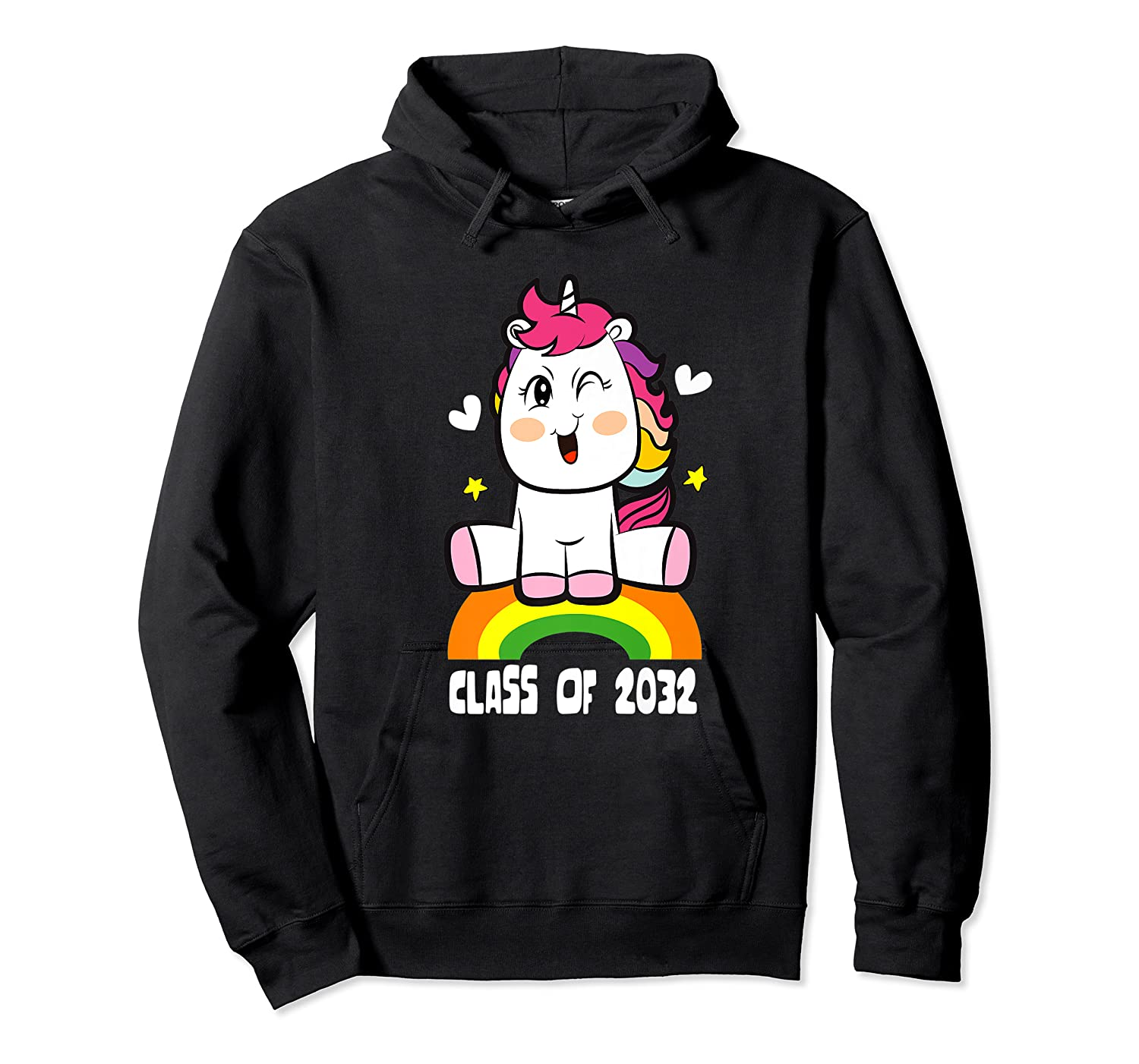 Unicorn First Day Of School Class Of 2032 Grow With Me Premium T-shirt Unisex Pullover Hoodie