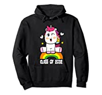 Unicorn First Day Of School Class Of 2032 Grow With Me Premium T-shirt Hoodie Black