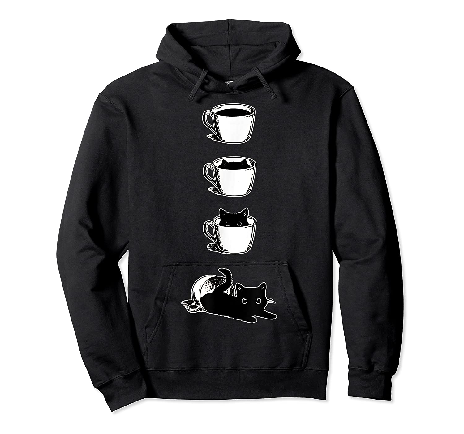 Cat In The Cup Funny Cat Lover Gifts Shirts Unisex Pullover Hoodie