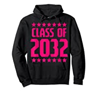 Class Of 2032 Stars Grow With Me First Day Kindergarten Gift T-shirt Hoodie Black
