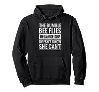 Motivational Bumble Bee Quote Raglan Baseball Ts Shirts Hoodie Black